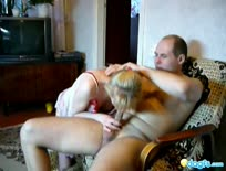 Soviet kinky couple suck n fuck in the living